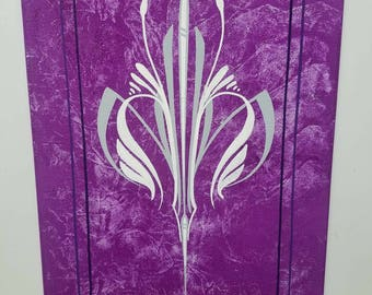 Canvas Panel 9x12 Pinstriped