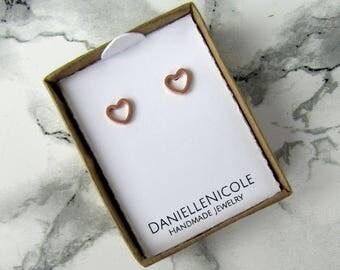 Small Heart Earrings, Heart Stud Earrings, Simple Earrings, Minimalist Earrings, Everyday Jewelry, Statement Jewelry, Statement Earrings