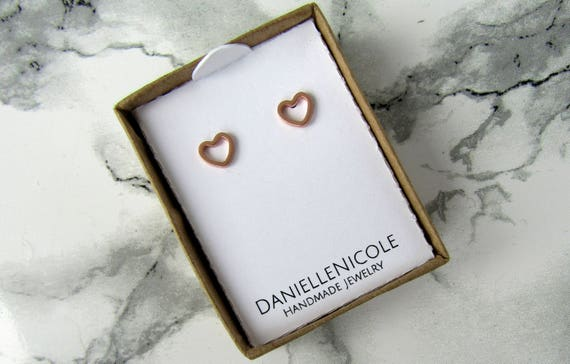 Small Heart Earrings, Heart Stud Earrings, Simple Earrings, Minimalist Earrings, Everyday Jewelry, Statement Jewelry, Statement Earrings