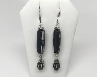 African Style Boho Earrings - Wooden Earrings - Wooden Bead Earrings