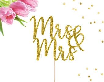 Mrs & Mrs Cake Topper, Lesbian Cake Topper, Wedding Cake Topper, Hers and Hers, Same Sex Wedding, Same Sex Cake Topper, Engagement Party