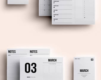 A6 TN Insert | A6 TN Printable | A6 TN Printable Insert | A6 Insert March 2018