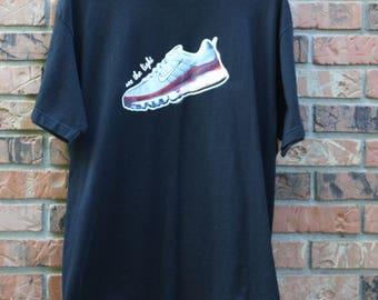 Vintage Nike Air Max see the light Rare shirt men's Large