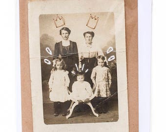 Embroidered old photograph