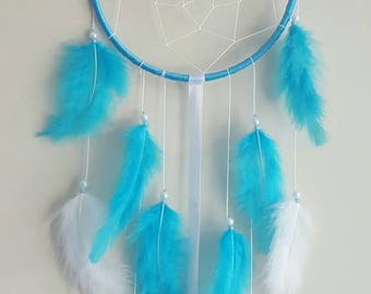 dream catcher 15cm Blue and white custom