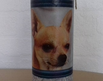 Chihuahua Decorated Bottle