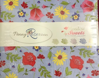 """Penny Rose Designs - Meadow Sweets 10"""" Stackers/layer Cake by Jill FInley for Riley Blake - 42, 10"""" x 10"""" Precut Fabric Squares"""