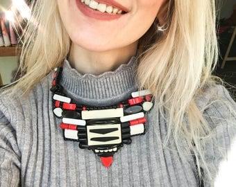 Statement necklace, modern necklace, unique necklace, fashion necklace, birthday necklace, bohemian necklace, unique gift, fashion jewelry