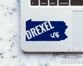 Drexel University State Vinyl Decal