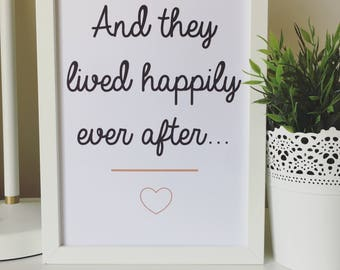 And They Lived Happily Ever After...