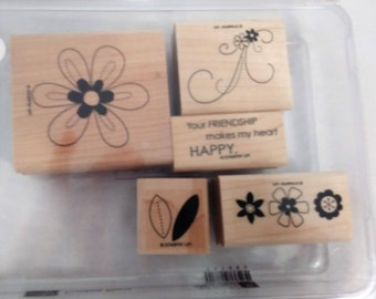 Stampin Up Friendship Blooms Rubber Stamps