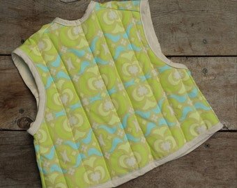 Baby Bib - Quilted Smock-style