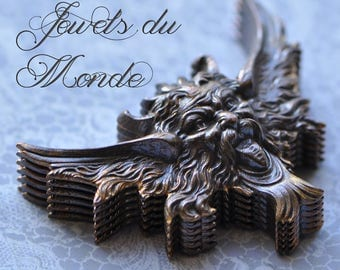 2 Sizes Vintage French Winged Gargoyle Chimera Gothic Medieval Style  Made in France 1 Piece 554J 555J