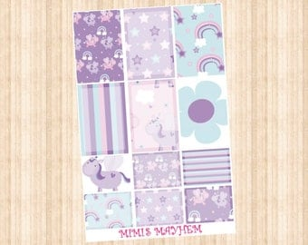 NEW Lilac Unicorn Full & Half Box // Happy Planner // Erin Condren // Personal