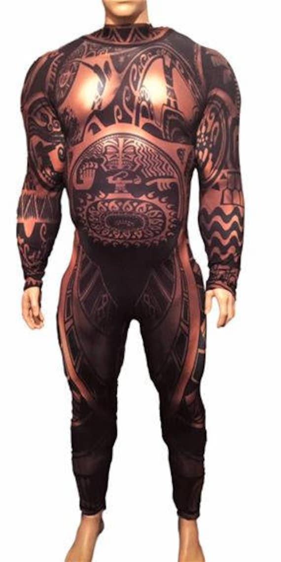 Inspired maui from moana demigod costume spandex subdye for Maui shirt tattoo