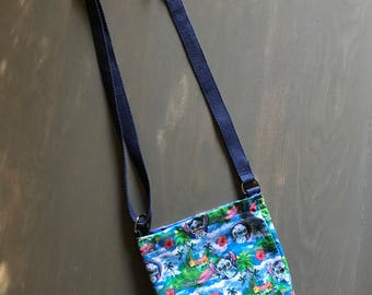 Stitch pattern cross-body bag / adjustable / women /girls /pocket / small