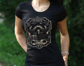 Volbeat T-shirt Lola Montez shirt Volbeat Tshirt Womens Shirt Rock Tee Rock Heavy Metal T-shirt Volbeat tshirt