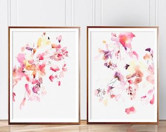 Set of 2 Prints, Set of 2 Wall art, Set of 2, Wall Art, Watercolor Art, Modern Art, Abstract Art, Watercolor, Prints, Wall Art, Prints Art