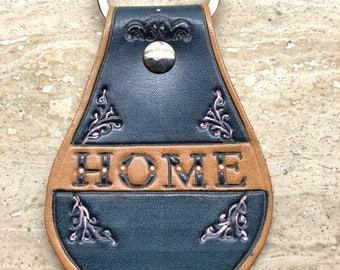 Leather craft key holder