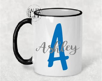 Monogram with name mug,monogram mug,custom mug,personalized mug,mug