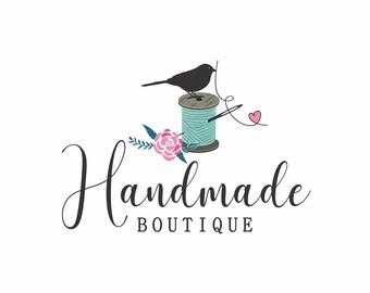 Sewing Logo, Knitting Logo, Needle logo, Craft logo, Logo for Knitting, Logo for sewing, Business logo, Boutique logo, Logo design, Paper