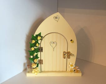 Lemon Fairy Door, Handmade Lemon Fairy Door, Fairy Door