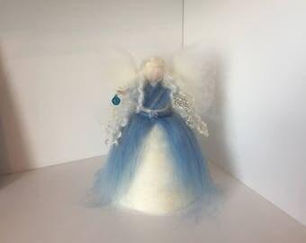Needle Felted Tree Top Fairy, Waldorf Inspired Fairy, Needle Felt Fairy