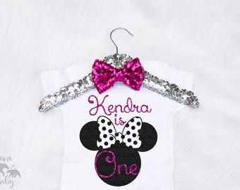 Baby Girl's Minnie Onesie, Minnie Birthday Onesie, Minnie Birthday Shirt, First Birthday Onesie, Disney Birthday Outfit, Minnie Mouse Shirt