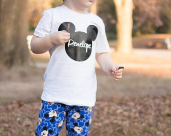 Personalized Mickey Name Shirt, Micky Mouse shirt, Mickey Mouse onesie, Micky Mouse, Expecting Mom gift, Baby Shower Gift, Baby girl
