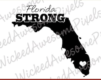 Florida Strong svg, Hurricane Irma svg, Florida Heart svg, Irma Decal File, Florida Cut File,Florida Strong Iron On Transfer, svg, png, eps