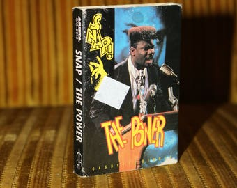 SNAP The Power Cassette Tape Music Vintage 1990s 1980s World Euro Hip House Trip Hop Eurodance Dance Music For your Boombox and Walkman