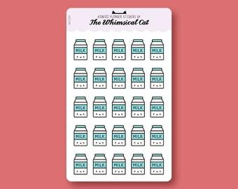 WCS031 | Kawaii Milk Planner Stickers, Milk Planner Stickers, Milk Planner Stickers, Milk Stickers, Cute Milk Stickers