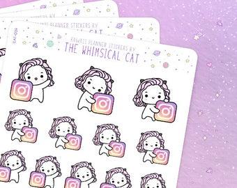Instagram Planner Stickers, Instagram Stickers, Social Media Stickers, Instagram Post Stickers (CAT009)