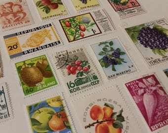 World WIde Fruit Postage Stamps