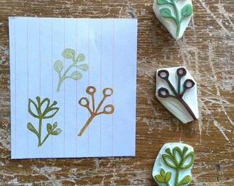 """Rubber Stamps """"Tris Natura""""-Conf. 3 pcs."""