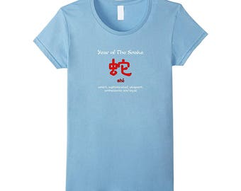Year of The Snake Chinese Zodiac T-Shirt who born in 1917, 1929, 1941, 1953, 1965, 1977, 1989, 2001, 2013