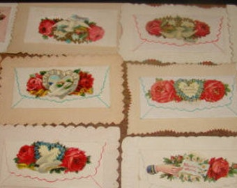 Lot of 12 Victorian Calling Cards (Envelopes)