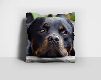 Rottweiler Pillow, Throw Pillow, Rottie Pillow, Rotty Pillow, Dog Pillow, Home Decor, Decorative Pillow, Pillow Case, Pillow Cover