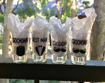 Groom Shot Glass/Groom Shot Glasses/Wedding Gift/Groomsmen/Groomsman/Groom/Shot Glasses/Wedding Shot Glass/Wedding Shot Glasses/Wedding/Shot