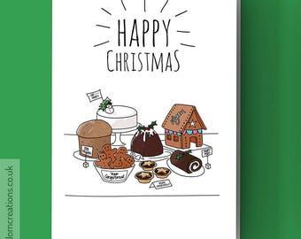 Vegan Christmas - Vegan Baking Christmas Card - Christmas baking