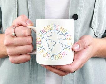 Happiness Makes the World Go Round Ceramic Mug