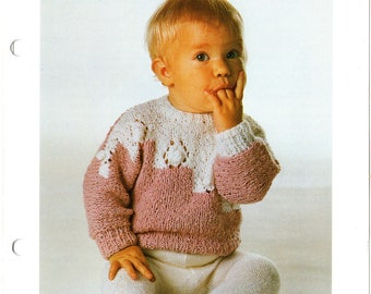 Baby Jumper Knitting Patterns, Baby Sweater Knitting Patterns, Baby Pullover Knitting Patterns, 80s Knitting , 80s Vintage Knitting