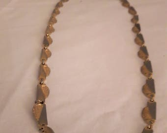 VINTAGE CORO Necklace - Two Tone Gold and Silver Tones - 1960s