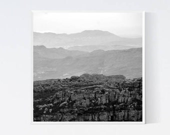 Mountains Print Wanderlust art Minimalist mountain prints Modern nordic art Printables black and white photography Monochrome scandinavian