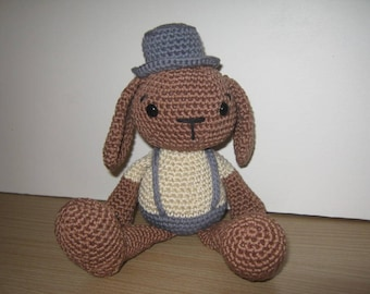 Handmade, Crochet Toy, Soft Toy, Stuffed Animal, Amigurumi Bunny - Bramble