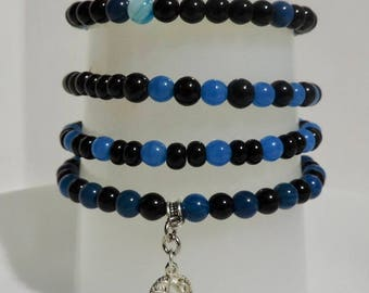 Gemstone and Glass bead bracelet