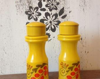Vintage Yellow Salt & Pepper Shakers