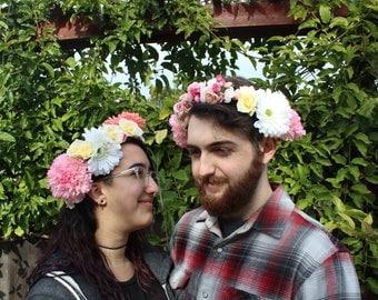 Soft Pink Flower Crowns