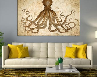 octopus wall decor etsy. Black Bedroom Furniture Sets. Home Design Ideas