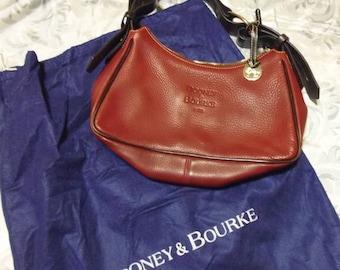 Dooney and Bourke Leather Shoulder Hobo Bag